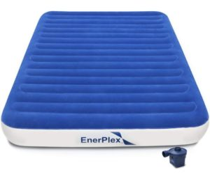 EnerPlex Queen Air Mattress with High Speed Wireless Pump for Home Camping Travel