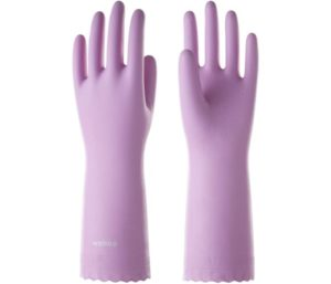 LANON Wahoo Series PVC Household Best Dishwashing Gloves, Reusable Waterproof Non-Slip