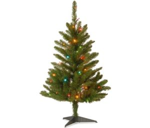 National Tree Pre-lit Artificial Small Christmas Tree with Lights