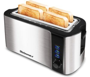 Elite Gourmet Best 4 Slice Toasters for Long Toasting