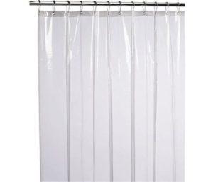 LiBa PEVA Best Shower Curtain Liner Heavy Duty Waterproof Anti-Microbial Mildew Resistant