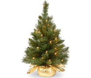 National Tree Artificial Small Christmas Tree with Lights