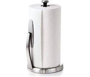 OXO Good Grips One of the Best Paper Towel Holders Brushed Stainless Steel
