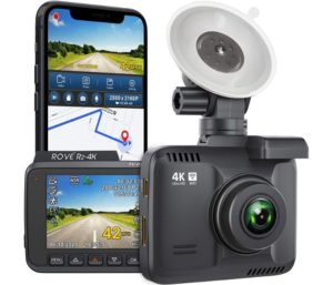 Rove R2-4K Best Wifi Dash Cam Built-in GPS Recorder with UHD Wide Angle Night Vision