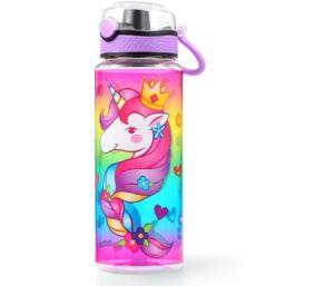 Cute Best Water Bottle For Kids Leak Proof Flip Top Lid Handle 23oz