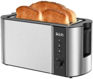 IKICH Toaster 2 Long Slot, Toaster 4 Slice Toaster