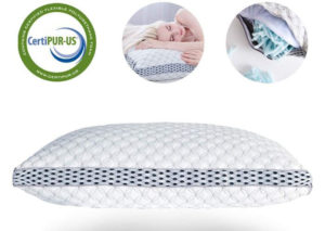 LIANLAM King Memory Foam Pillow Shredded Bed Bamboo Cooling Pillow