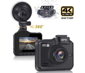 Lifechaser Dual Dash Cam Front and Rear Car Camera GPS