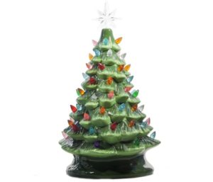 ReLIVE Lighted Tabletop Ceramic Tree