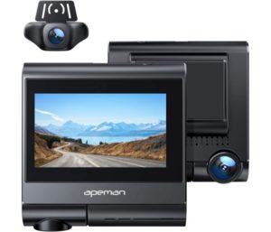 APEMAN Dual Wifi Dash Cam Built-in GPS Touch Screen