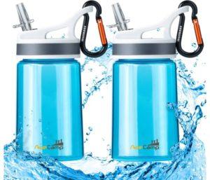 AceCamp Kid Water Bottle BPA Free Sports Water Bottle Portable Leakproof 12 Oz