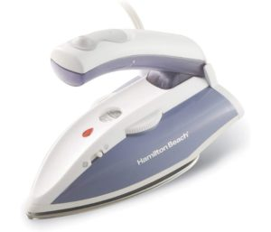 Hamilton Beach Best Travel Iron with Fabric Brush Stainless Steel Soleplate