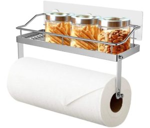ODesign One of the Best Paper Towel Holders with Shelf Adhesive Wall Mount