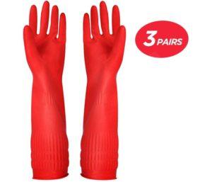Rubber Kitchen Best Dishwashing Gloves