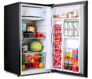 TACKLIFE Mini Fridge with Best Mini Freezer Silence Ideal Small Refrigerator for Bedroom, Office Dorm