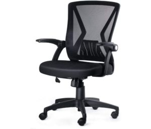KOLLIEE Best Office Chair under 200 Ergonomic Flip Up Arms With Lumbar Support Adjustable Height Task Chair
