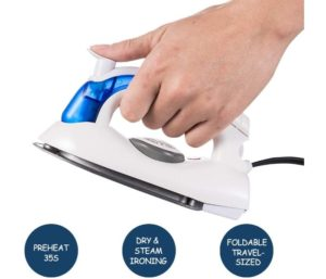 VICARKO Best Travel Iron Mini Steam Ironing and Dry Ironing