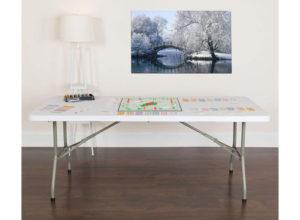 Flash Furniture Bi-Fold Granite Plastic Best Folding Tablea with Carrying Handle