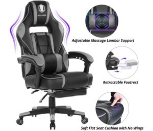 KILLABEE Massage Gaming Chair High Back PU Leather PC Racing Computer Desk Office Swivel Recliner