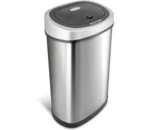 NINESTARS Automatic Touchless Infrared Motion Sensor Trash Can, 13-Gallons 50L