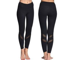 ONGASOFT Women's Yoga Pants Mesh Tights