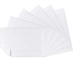 Bath Rug White Bathroom Floor Cotton Bath Mat Towels