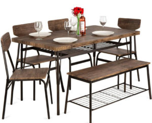 Best Choice Products 6-Piece Set Modern Best Dining Tables