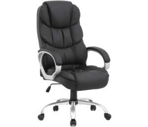 Ergonomic Best Office Chair under 200 with Lumbar Support Arms Executive Rolling Swivel PU Leather Task Chair