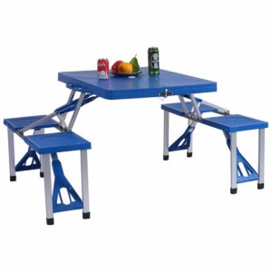 GYMAX Picnic Table Folding for Camping with 4 Seats