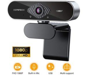 HD Best Wireless Webcam with Microphone USB Webcam Light Correction by DEPSTECH