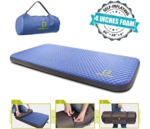 QOMOTOP Ultra-Thick Camping Mattress, Ultra Comfortable Side Sleep Portable Roll-Up Floor