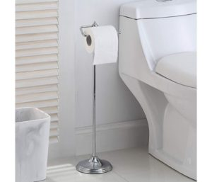 SunnyPoint Free Standing Toilet Tissue Paper Roll Holder