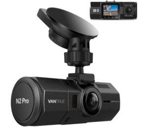 Vantrue N2 Pro Uber Wifi Dash Cam Infrared Night Vision, 1080P Front and Inside