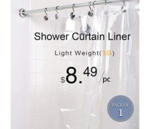 LOVTEX PEVA Best Shower Curtain Liner Water Repellent for Bathroom