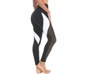 QUEENIEKE Women Fitness Pants Color Blocking Mesh