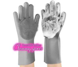 anzoee Reusable Silicone Dishwashing Gloves Best Dishwashing Gloves