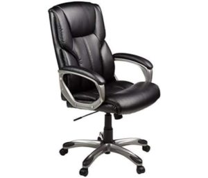 AmazonBasics Leather Executive Swivel Adjustable Office