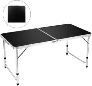 Best Folding Camping Table By FiveJoy Roll Up Top Weatherproof