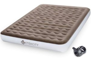 Etekcity Upgraded Best Camping Mattress Queen Twin Airbed Rechargeable Pump