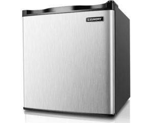 Euhomy Best Mini Freezer Countertop, Upright Freezer with Reversible Stainless Steel Door