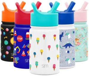 Simple Modern Best Water Bottle For Kids with Straw Lid - Dishwasher Safe Vacuum Insulated 10oz