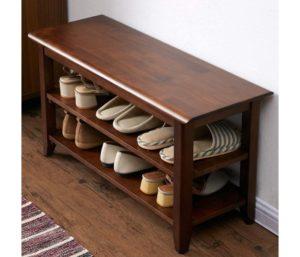 ACRO Storage Wooden Shoe Bench