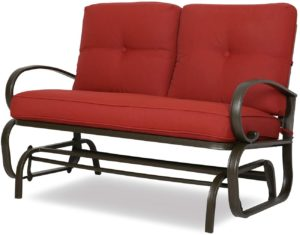 Patio Outdoor Glider Bench Loveseat Swing Chair