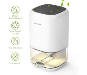 AUZKIN Best Small Dehumidifier for 2100 Cubic Feet