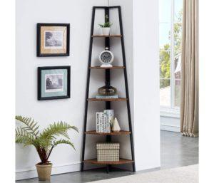 O&K FURNITURE Tall Best Corner Bookshelves