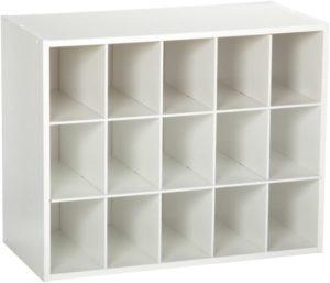 ClosetMaid Stackable 15-Unit Organizer Wooden Shoe Rack
