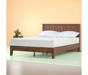 Zinus Vivek Deluxe Wood Platform Bed, One of the Best Wooden Bed Frames