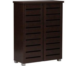 Baxton Studio Wooden Entryway Shoes Storage Cabinet