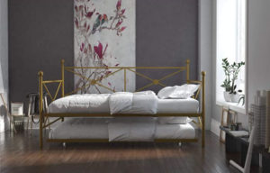 DHP Lina Metal Daybed with Trundle Full Size Sofa Bed Frame