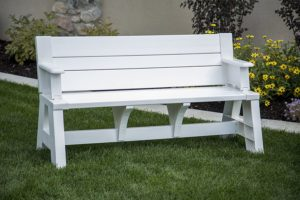 Best Outdoor Glider Bench Premiere Products 5RCAT Resin Convert-A-Bench